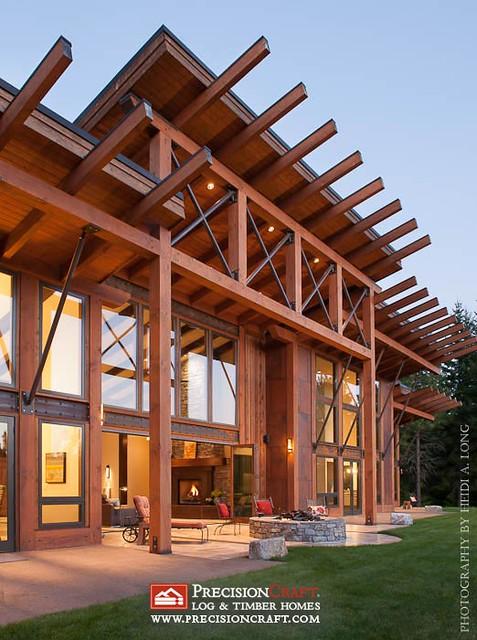 Precisioncraft Timber Frame Home Exterior View Flickr