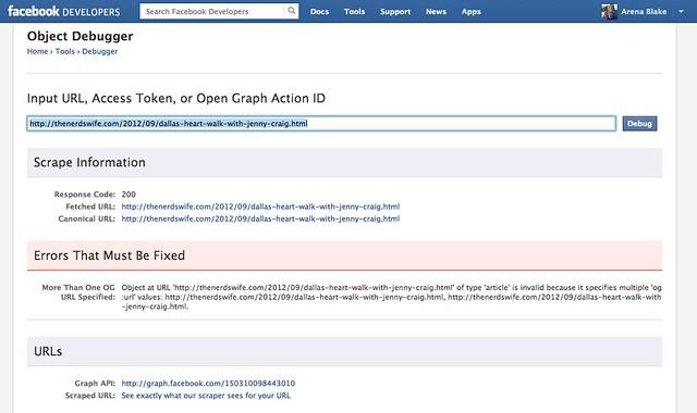 Facebook Debugger Details