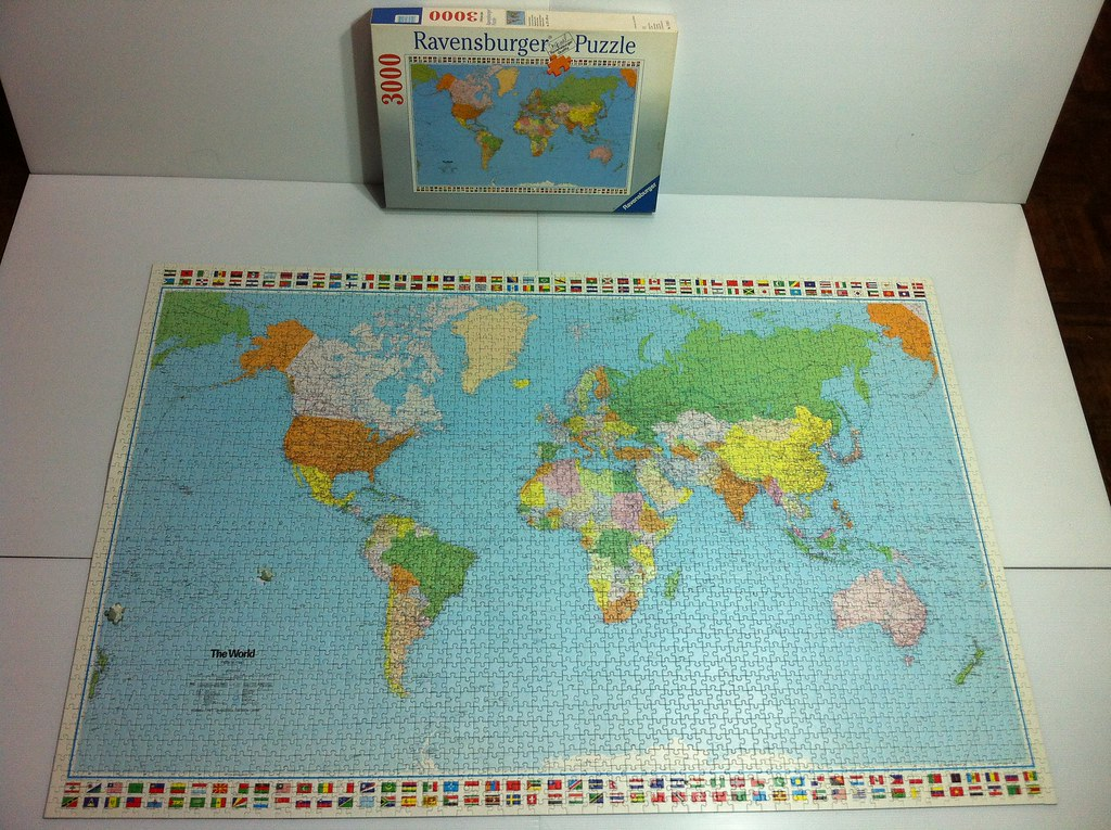 3000 Piece Jigsaw Puzzle Political World Map No 170159 Flickr