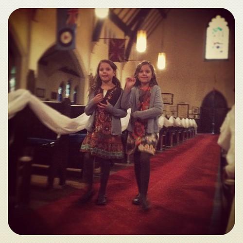 wedding rehearsal ~ flower girls in the making ~ 2 more sleeps!!