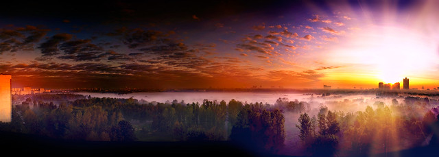 Magic sunrise (Moscow) Strogino