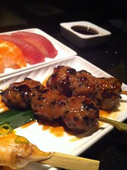 meal, brochette, meat, produce, food, dish, yakitori, kebab, cuisine, skewer, grilled food,