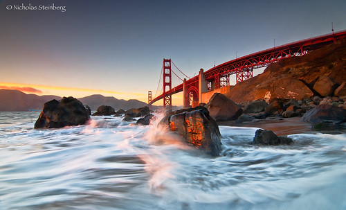 Last light on Marshalls- Golden Gate Bridge, San Francisco, CA