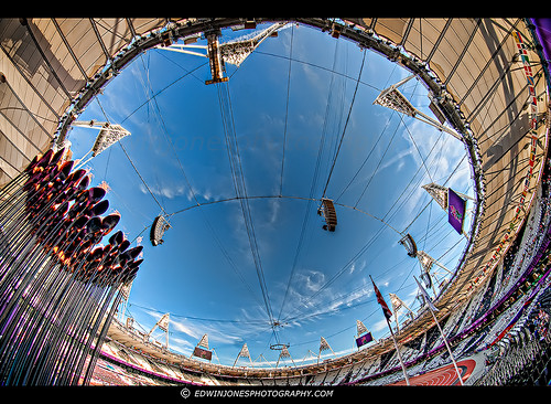 Fisheye Olympic Flame Stadium