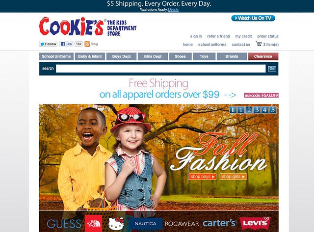 Cookies Kids Homepage