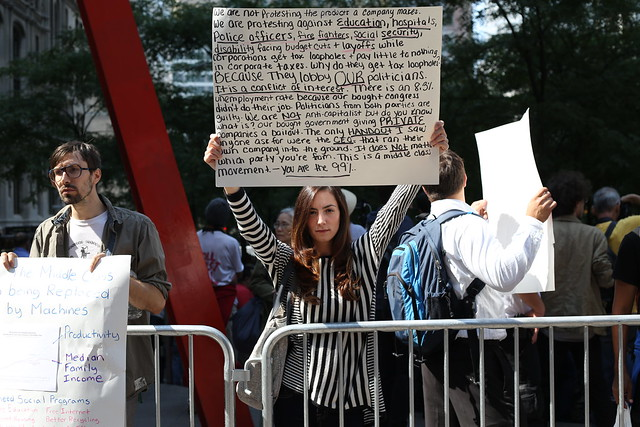 Woman at Occupy Wall Street