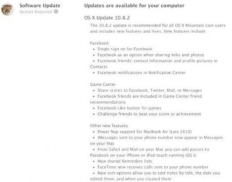 OS X Mountain Lion 10.8.2