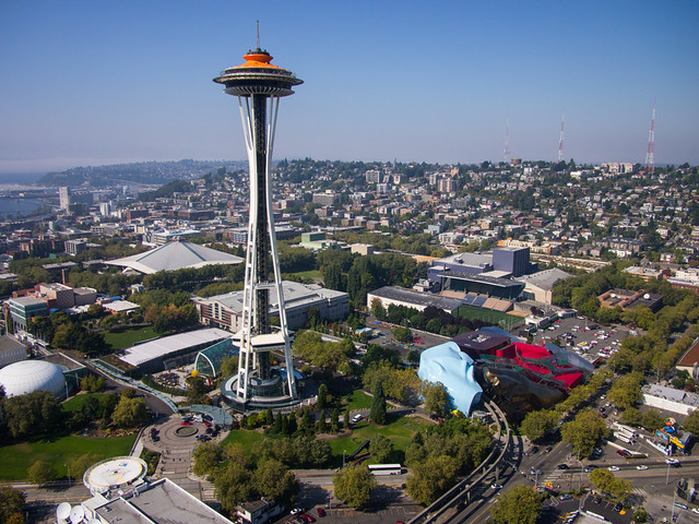 Aerial View of Space Needle