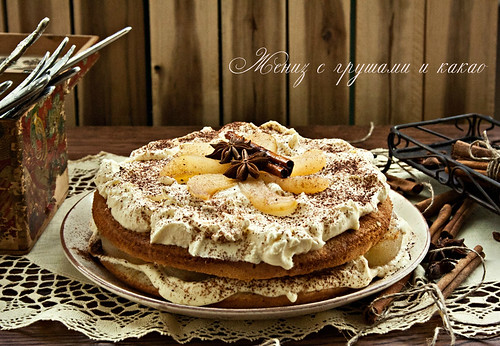 Buttercake with Pears and Cocoa