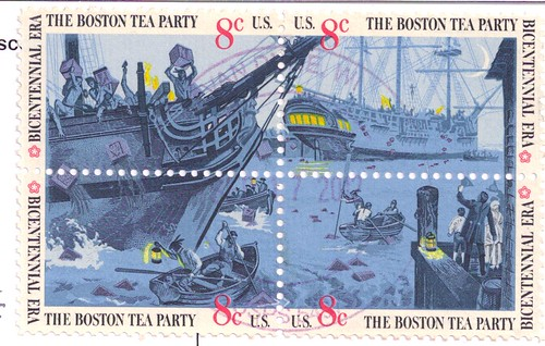 The Boston Tea Party Stamps