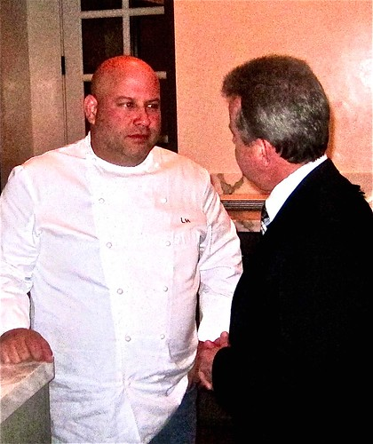 exec chef Lee with maitre d Laurent