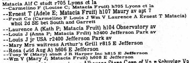 Matacia Charlottesville 1951