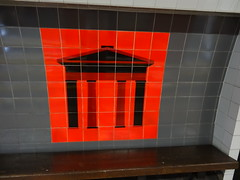 Euston Station Doric Arch tiled artwork