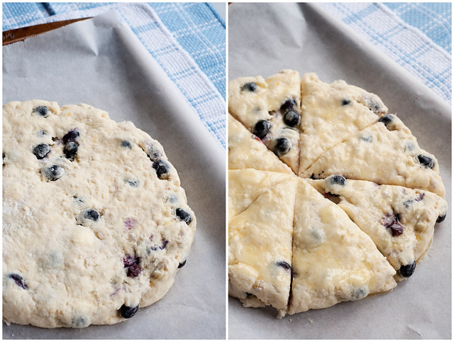 Prep for Lemon-Blueberry Ricotta Scones