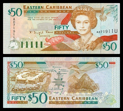(XCD6b) 1994  Eastern Caribbean States, Anguilla, Eastern Caribbean Central Bank, Fifty  Dollars (AR)