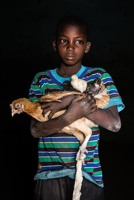 """Issouf, Chicken Farmer, Mali.<br /> <br /> """"I want to be a chicken farmer like my father, and also because I like chicken.""""<br /> <br /> Photo by Vincent Tremeau, 2015"""