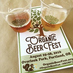 Can you tell PDX has lots of beer festivals? We even have one devoted entirely to #organic beer! Thank you, @pdxyelp for the tickets! #organicbeer