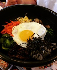 Bibimbap rice with vegetables   Just a simple late lunch @youngdongla #rice #bibimbap #koreanfood #restaurant #followme #follow #lunch #sundaylunch