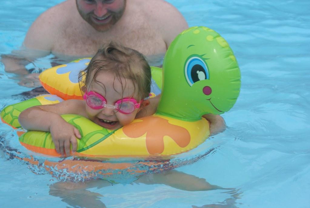 lovin' her turtle floatie