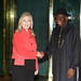 President Goodluck welcomes Secretary Clinton