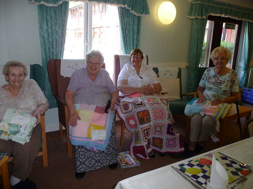 The Ladies were so pleased to receive the blankets.