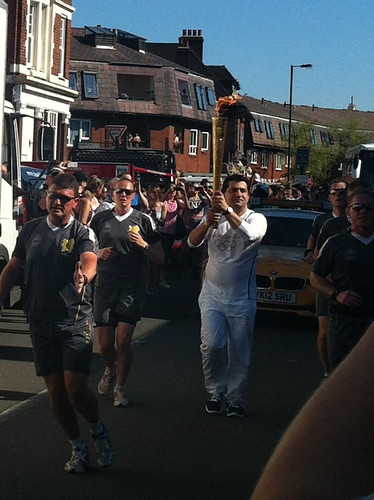 Torch relay, Haydons Road, Wimbledon