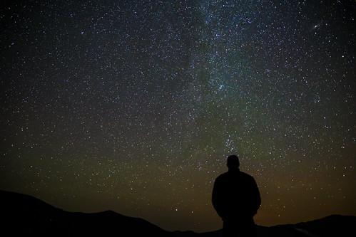 無料写真素材, 人物, シルエット, 夜空, 星