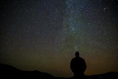 [フリー画像素材] 人物, シルエット, 夜空, 星 ID:201208181600