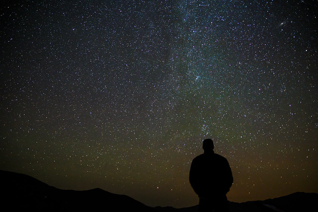 Dave Checking out the Perseid Meteor Shower at 10,000 feet