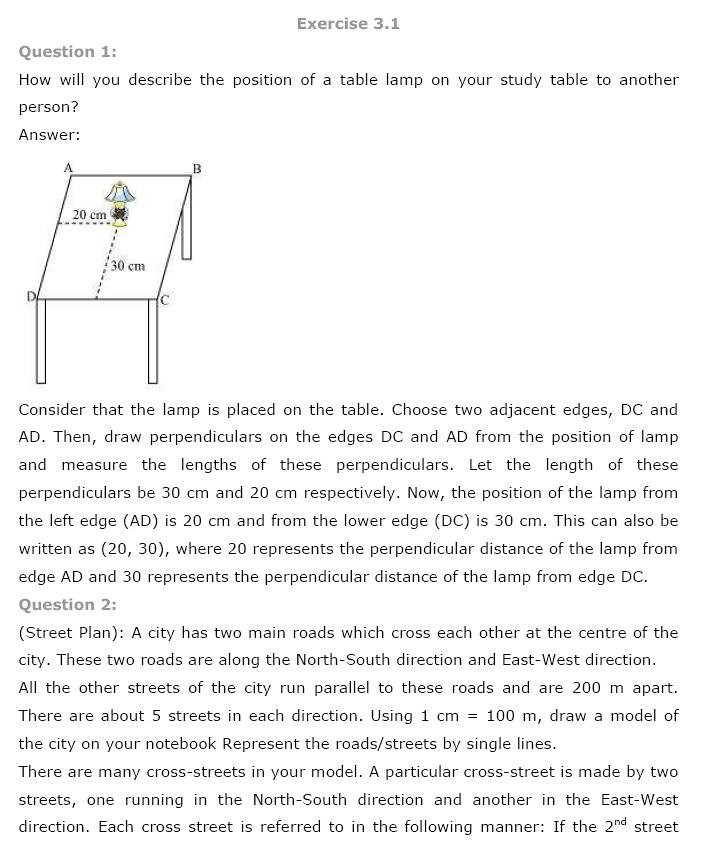 Printable Worksheets science worksheets for class 5 : NCERT Solutions for Class 9th Maths: Chapter 3 Coordinate Geometry ...