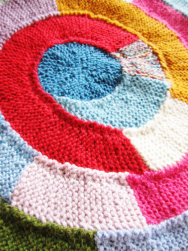 Ten twist stitch scrap blanket
