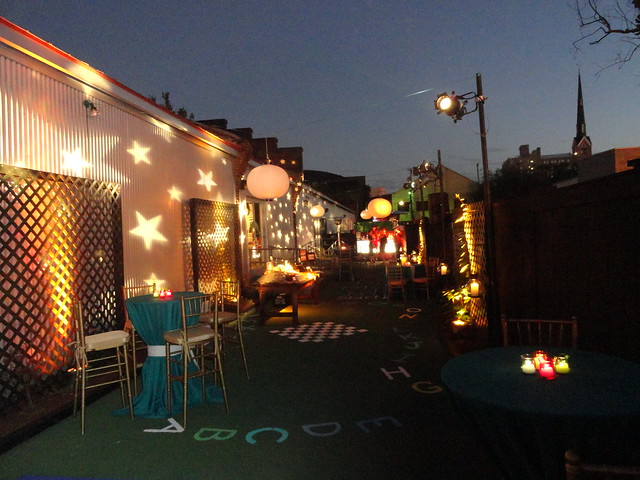 Outdoor Event with lights and scenic aspects