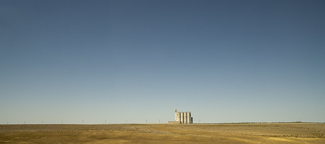 Silos, the color of drought. August 4, 2012 photo by Ken McCown.