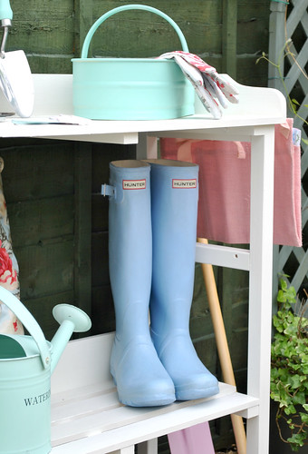 Hunter blue wellies