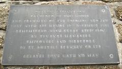 Photo of Les Greenhaugh black plaque