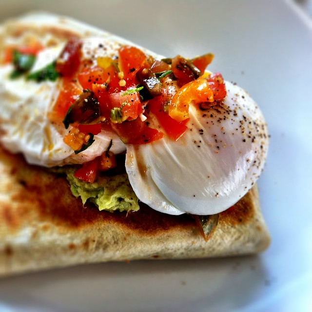 Breakfast quesadilla at Found Off Chapel in South Yarra