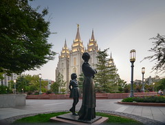 Evening at Temple Square. lds temple photo