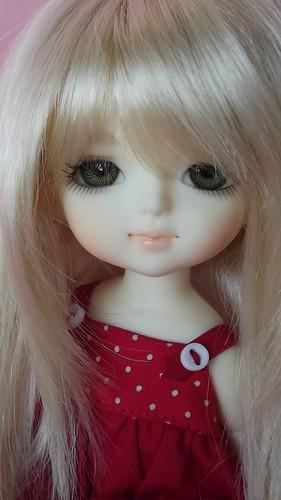 Miki in blond