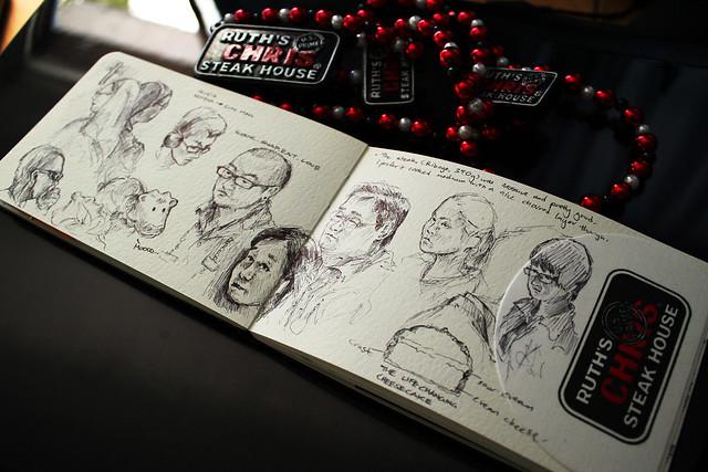 Ruth's Chris Steakhouse Sketchbook