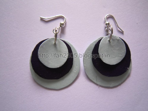 Handmade Jewelry - Paper Punch Disk Earrings (1) by fah2305