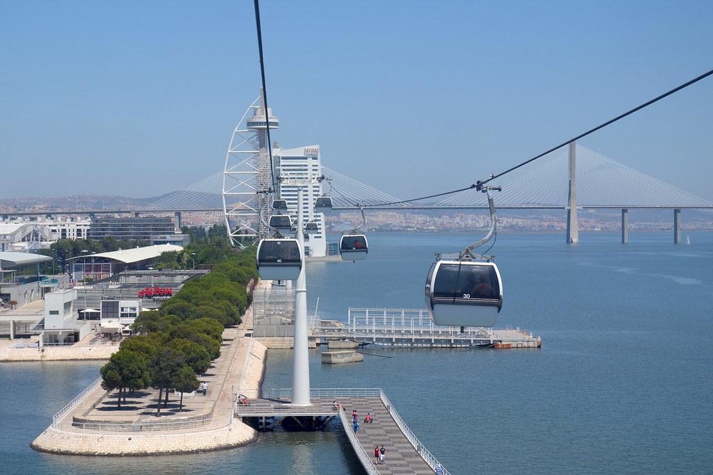 Téléphérique du quartier Parque das Nações à Lisbonne - Photo de Aapo Haapanen