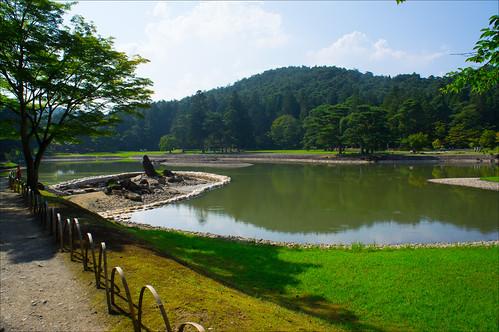 Lago central de Motsu-ji