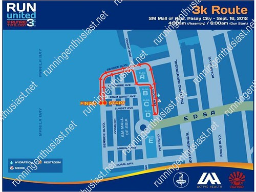 run united 3 3k route map