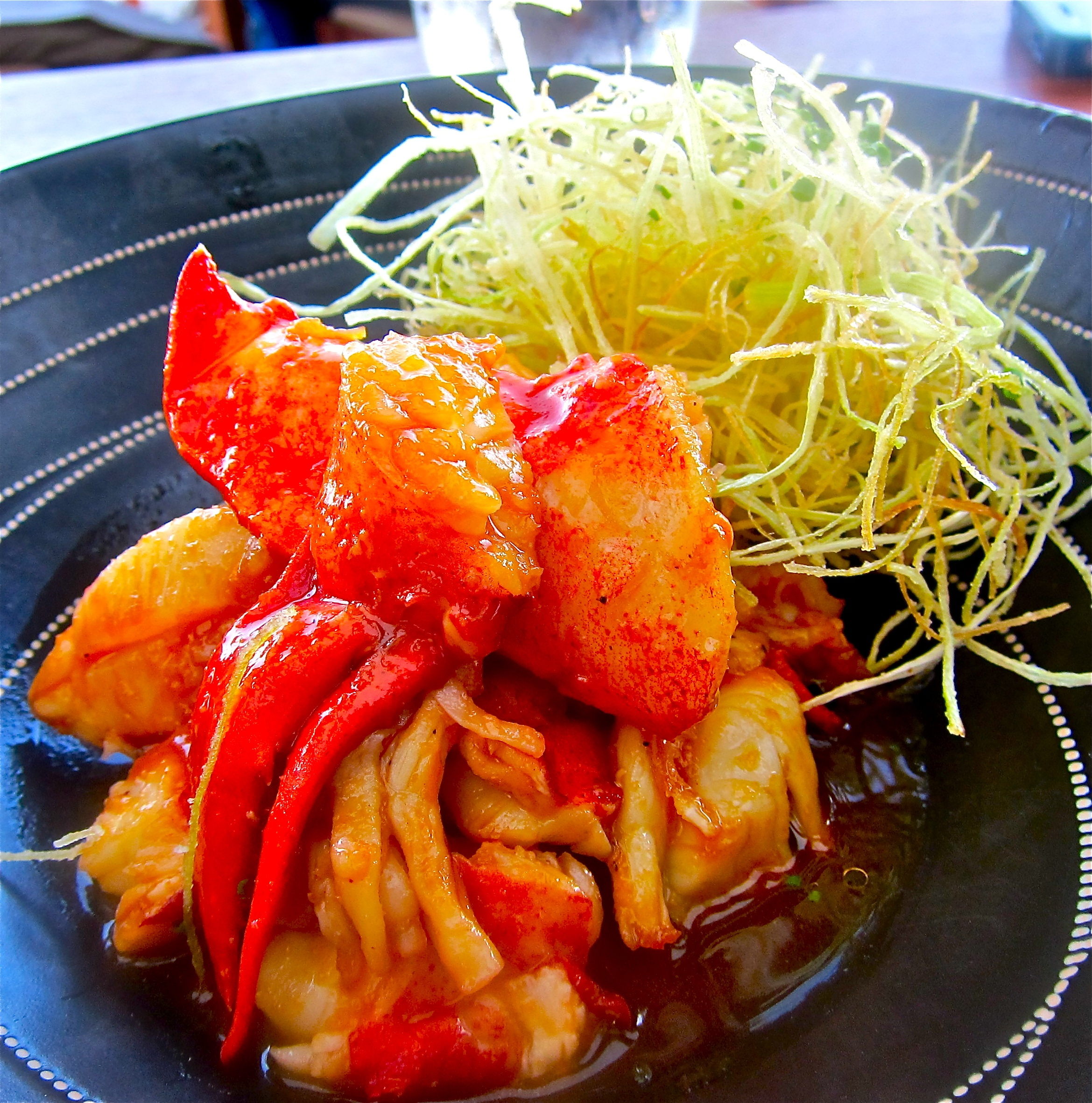 sweet-and-sour lobster