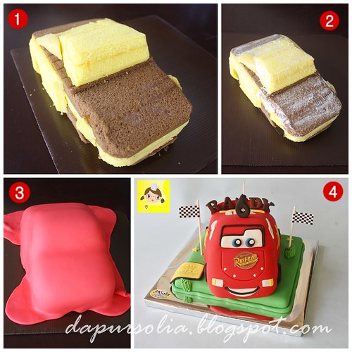 How to Make 3D Cake Cars McQueen