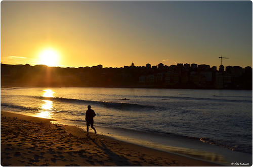 Sunrise on Bondi Beach - Sydney