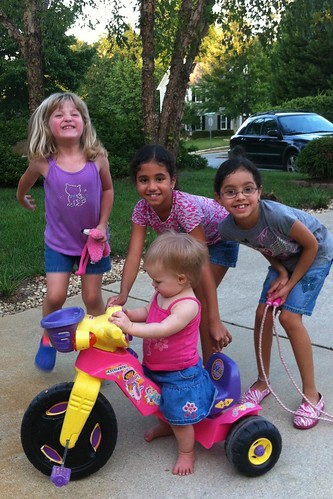 Catie & Lucy with Lexi & Arianna (neighbor friends