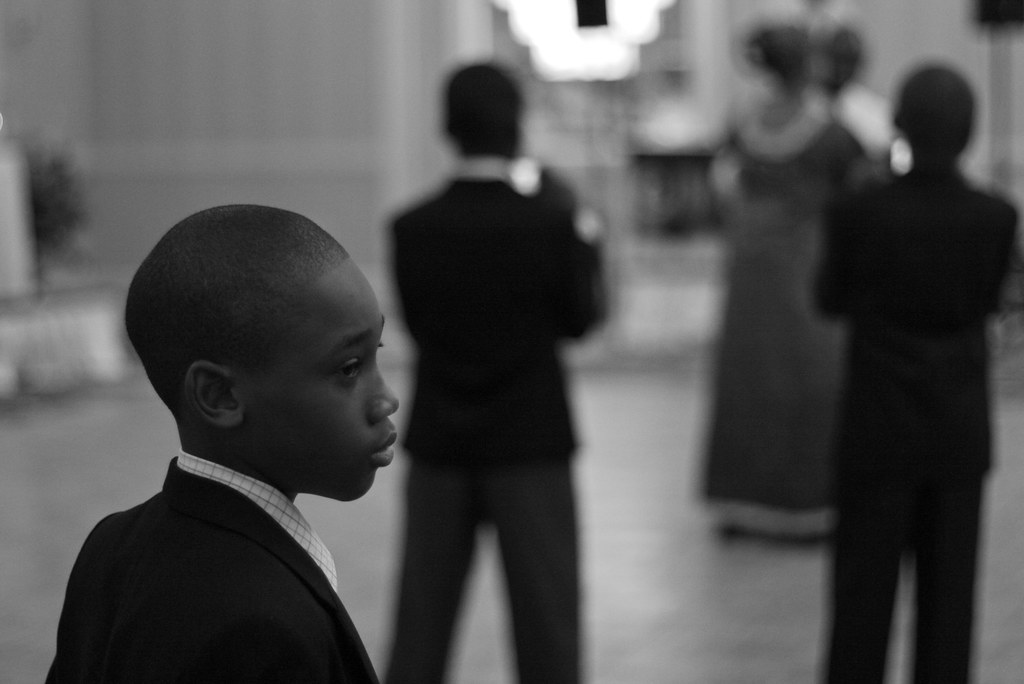 A boy at a wedding
