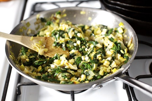 leek, chard and corn flatbread | smitten kitchen