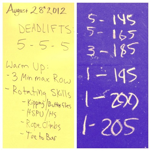 Deadlift fun this morning. modified the #wod a little so I could go for a 1rm. #crossfit